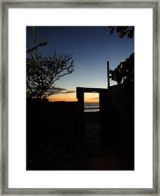 Doorway To Dusk Framed Print