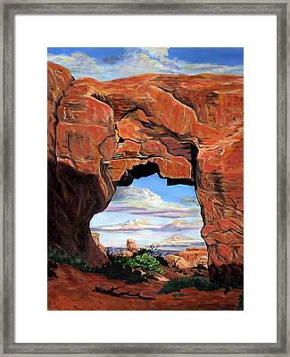 Doorway To Enchantment Framed Print by Timithy L Gordon