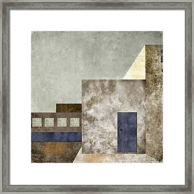 Doorway To Geometry Framed Print by Carol Leigh