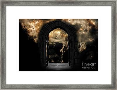 Doorway To Heaven Or Hell Framed Print by Ken Biggs