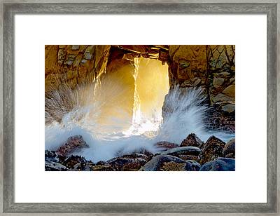 Doorway To The Pacific Ocean Framed Print