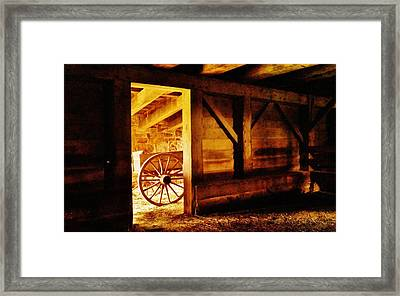 Doorway To The Past Framed Print
