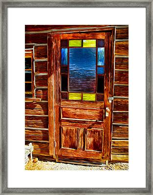 Doorway To The Past Framed Print by Omaste Witkowski