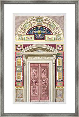 Doorway To The Raphael Loggia Framed Print by G. & Camporesi, P. Savorelli