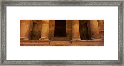Doorway To The Treasury, Wadi Musa Framed Print by Panoramic Images