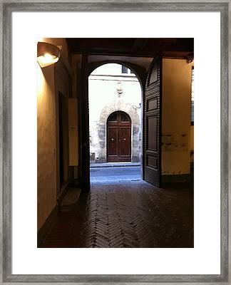Doorways In Italy Framed Print