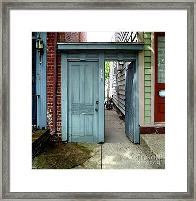 Framed Print featuring the photograph Doorways Of Bordentown Series - Door 2 by Sally Simon