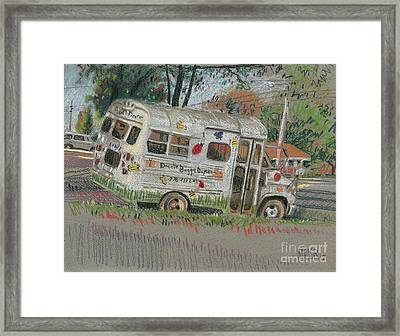 Framed Print featuring the painting Doodlebugs Bus by Donald Maier