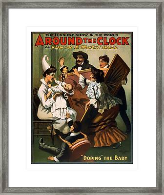 Doping The Baby Framed Print by Terry Reynoldson
