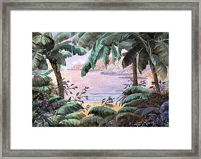 Dopo La Jungla Il Mare Framed Print by Guido Borelli