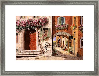 Doppia Casa Framed Print by Guido Borelli