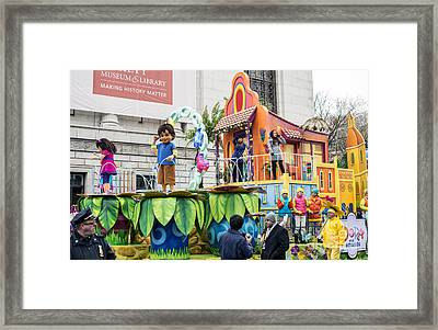 Dora And Friends Aventuras Fantasticas Float By Nickelodeon At Macy's Thanksgiving Day Parade Framed Print by David Oppenheimer