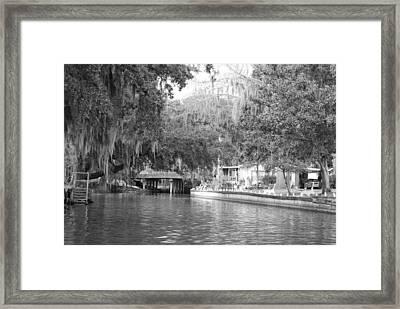 Dora Canal Framed Print by Cyndi Lenz