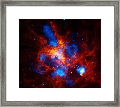 Framed Print featuring the digital art Doradus Nebula by Artistic Panda