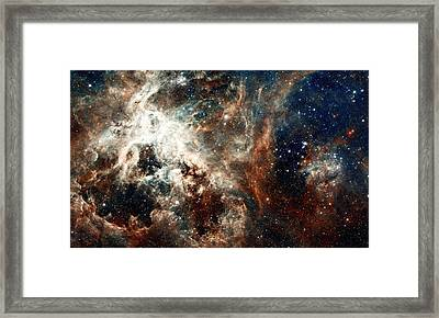Doradus Nebula Framed Print by L Brown