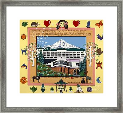 Framed Print featuring the painting Dorenbecher Hospital by Jennifer Lake