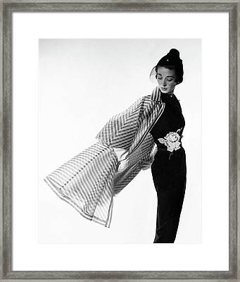 Dorian Leigh Wearing A Bonnie Cashin Dress Framed Print
