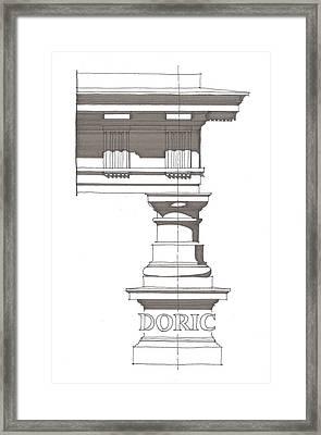 Doric Order Framed Print