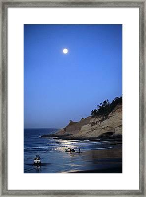 Dories At Dawn Framed Print