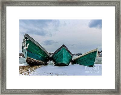 Dories On Vacation Framed Print by Joe Faragalli
