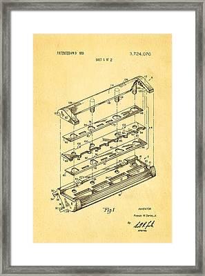 Dorion Twin Blade Razor Patent Art 1973 Framed Print by Ian Monk