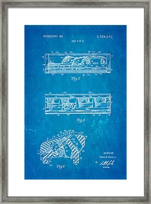 Dorion Twin Blade Razor Patent Art 2 1973 Blueprint Framed Print by Ian Monk