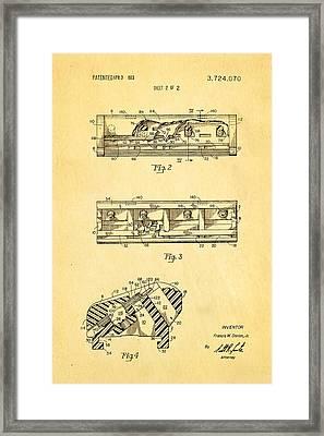 Dorion Twin Blade Razor Patent Art 2 1973 Framed Print by Ian Monk