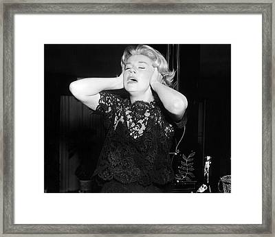 Doris Day In Midnight Lace  Framed Print