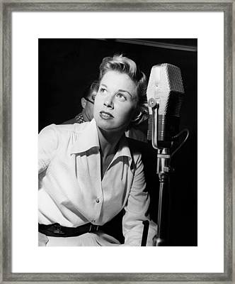 Doris Day, In The Recording Studio, 1950 Framed Print by Everett