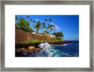 Framed Print featuring the photograph Doris Duke Shangri La Hawaii by Aloha Art