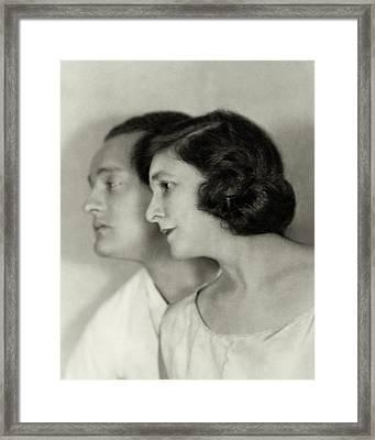 Doris Keane And Basil Sydney Framed Print by Nicholas Muray