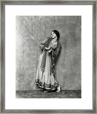Doris Niles As An Indian Woman Framed Print by Nickolas Muray