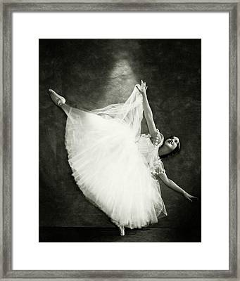 Doris Niles On Pointe Framed Print by Nickolas Muray