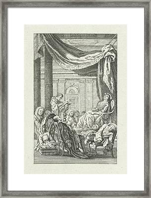 Dormant Figures Under A Canopy, Jacob Folkema Framed Print