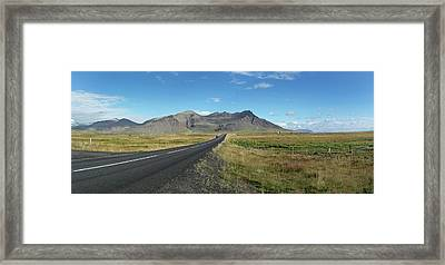 Dormant Volcano And Road Framed Print by Tony Craddock
