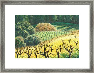 Dormants In The Mustards Framed Print by Carl Downey