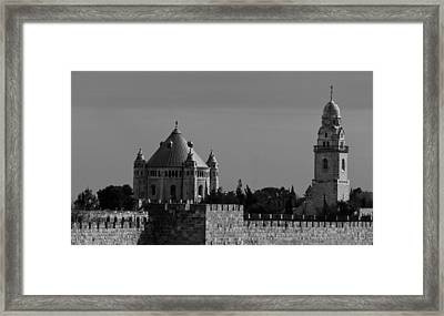 Dormition Abbey Framed Print by Amr Miqdadi