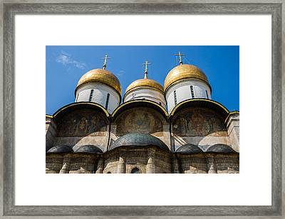 Dormition Cathedral Of Moscow Kremlin - Featured 3 Framed Print by Alexander Senin