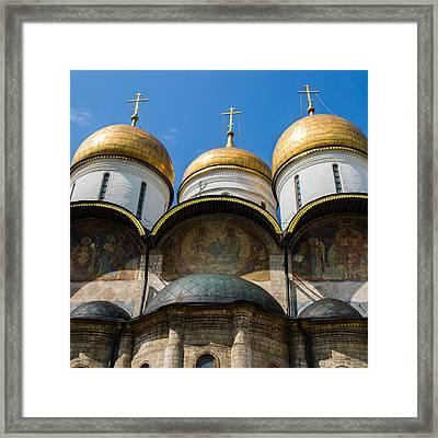 Dormition Cathedral - Square Framed Print by Alexander Senin