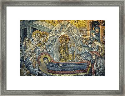 Dormition Of The Virgin Framed Print