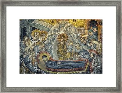 Dormition Of The Virgin Framed Print by Taylan Apukovska