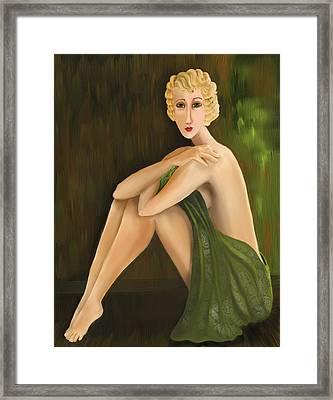 D'oro Verde Framed Print
