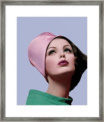 Dorothea Mcgowan In A Cloche Framed Print by Bert Stern