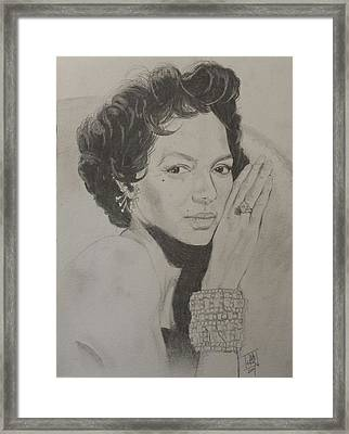 Dorothy Dandridge Framed Print by DMo Herr