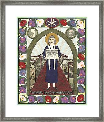 Dorothy Day Icon Framed Print by David Raber