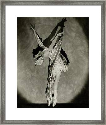 Dorothy Dilley In The Butterfly Dance Framed Print by Nickolas Muray