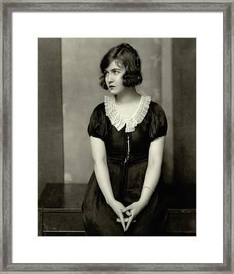 Dorothy Gish Wearing A Satin Dress Framed Print by Nickolas Muray