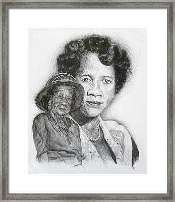 Dorothy Height - Double Portrait Framed Print