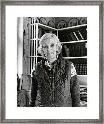 Dorothy Hodgkin Framed Print by Lucinda Douglas-menzies