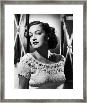 Dorothy Lamour Framed Print by Silver Screen